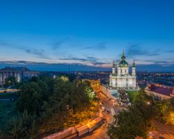 L'église de Saint-André à Kiev