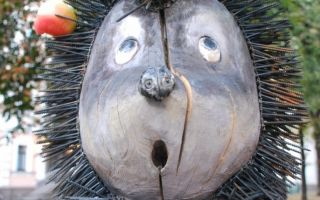 Porco Espinho na névoa ou a cavalo (Hedgehog Monument)