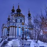 Eglise de Saint-André Kiev Hiver