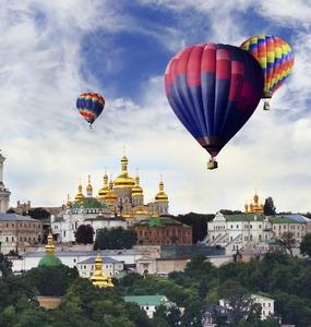 Vôo de balões em Kiev